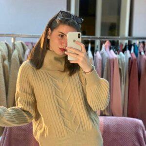 maglione collo vulcano