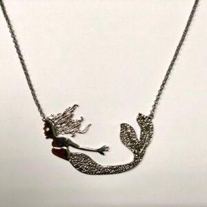 Girocollo sirena ori mediterranei in argento placcato oro