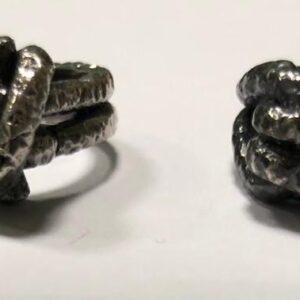 anelli nodo argento brunito