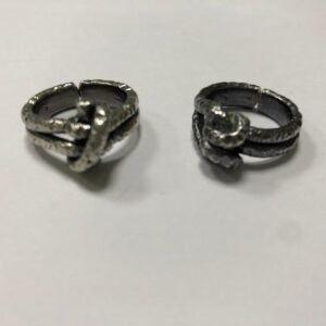 anello nodo argento brunito