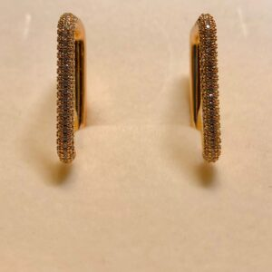orecchini quadri oro
