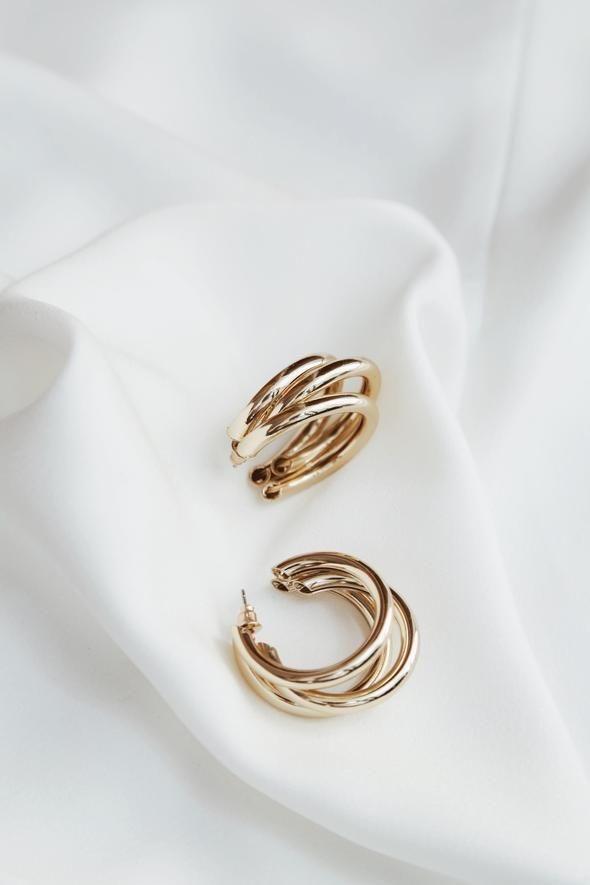 orecchini tris di anelli